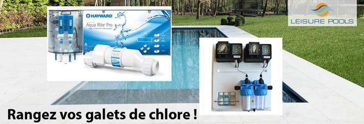 Electrolyse sel hayward dosage automatique chlore ph de for Traitement automatique piscine