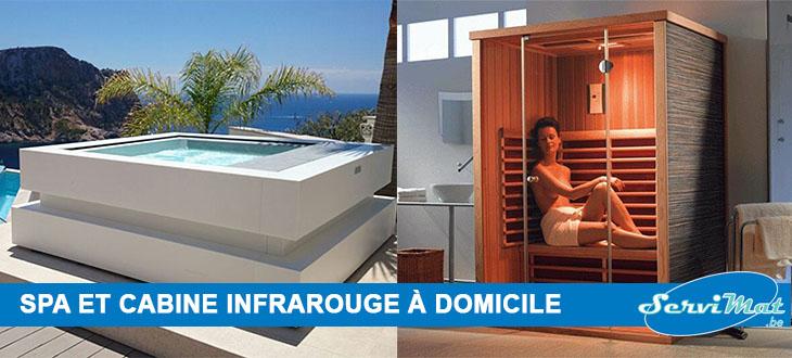 installez un spa ou une cabine infrarouge chez vous servimat. Black Bedroom Furniture Sets. Home Design Ideas