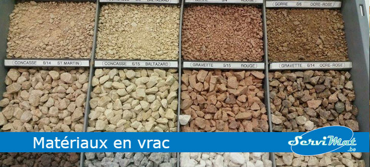 Mat riaux construction en vrac sable gravier namur mons for Accessoire piscine namur
