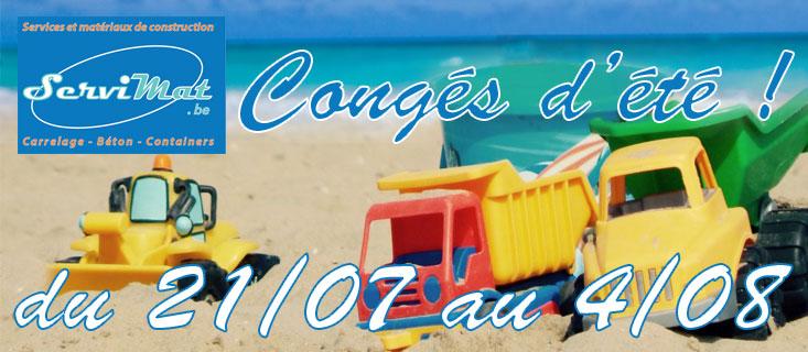 Veuillez noter nos congés d'été du 21/07 au 04/08 inclus